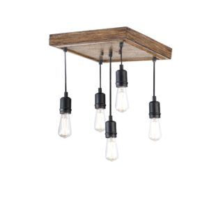 Timber Lodge 5 Light Semi-Flush Mount